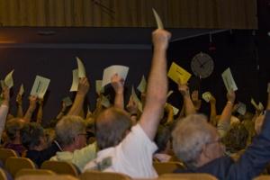 Votering för 2/3 majoritets beslut