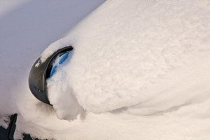 Spegel i snö
